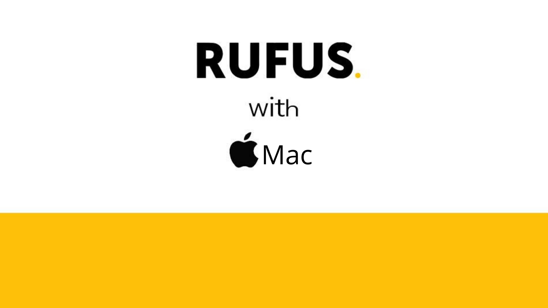 Important features of the Rufus computer program