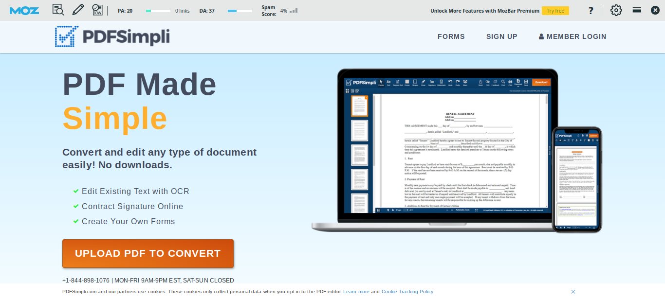 When entering the PDFSimpli interface, you can select the option of the free Image to PDF converter